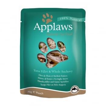 APPLAWS, File Ton și Anșoa, plic, hrană umedă pisici, (în supă), 70g