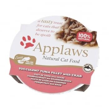 APPLAWS, File Ton și Crab, bol hrană umedă pisici, (în supă), 60g imagine