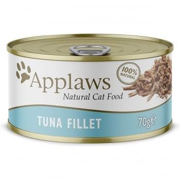APPLAWS, File de Ton, plic hrană umedă pisici, (în supă), 70g