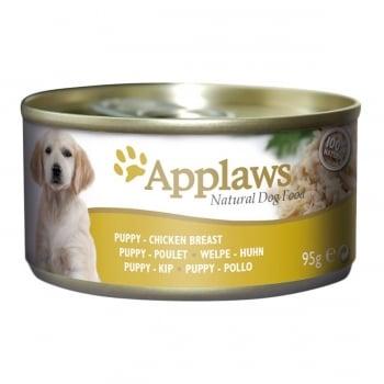 APPLAWS Junior, Pui și Vită, conservă hrană umedă câini Junior, (în sos), 95g