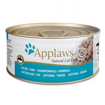 APPLAWS Junior, Ton, conservă hrană umedă pisici Junior, (în supă), 70g