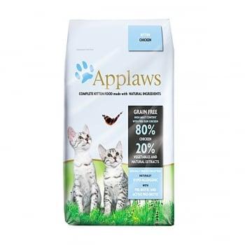APPLAWS Kitten, Pui, hrană uscată pisici junior, 2kg