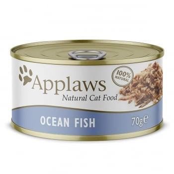 APPLAWS, Pește Oceanic, conservă hrană umedă pisici, (în supă), 156g