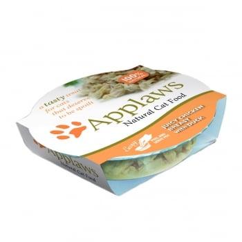 APPLAWS, Piept Pui și Rață, bol hrană umedă pisici, (în supă), 60g