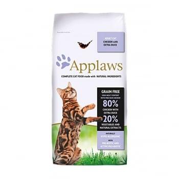 APPLAWS, Pui și Rață, hrană uscată pisici, 7.5kg