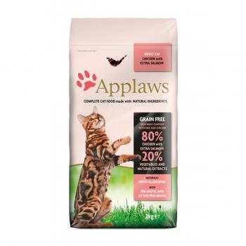 APPLAWS, Pui și Somon, hrană uscată pisici, 7.5kg