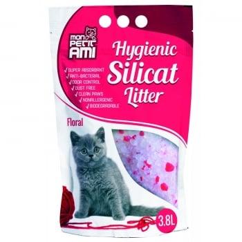 Asternut Igienic Mon Petit Ami Silicat Floral, 3.8 L imagine
