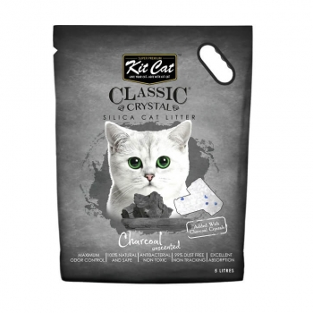 Asternut Igienic Pentru Pisici Kit Cat Crystal Charcoal, 5 L imagine