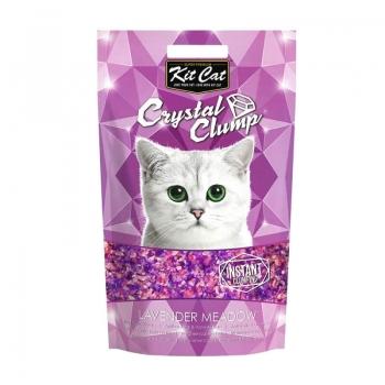 Asternut Igienic Pentru Pisici Kit Cat Crystal Clump Lavender Meadow, 4 L imagine