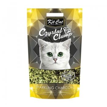 Asternut Igienic Pentru Pisici Kit Cat Crystal Clump Sparkling Charcoal, 4 L imagine