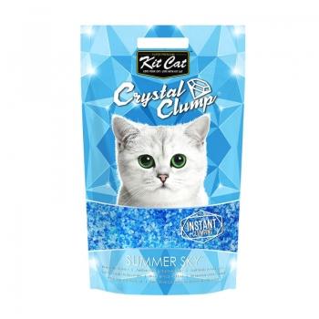 Asternut Igienic Pentru Pisici Kit Cat Crystal Clump Summer Sky, 4 L imagine