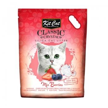 Asternut Igienic Pentru Pisici Kit Cat Crystal Mix Berries, 5 L imagine