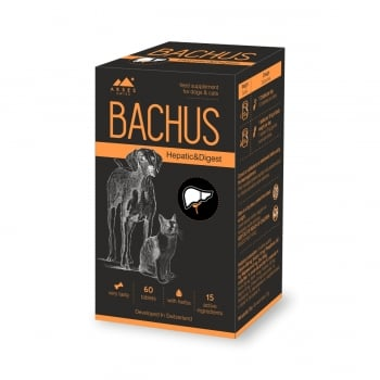 BACHUS Hepatic&Digest, suplimente hepatice și digestive câini și pisici, 60cpr