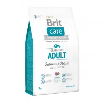 BRIT Care Adult Small and Medium Breed, XS-M, Somon cu Cartofi, hrană uscată fără cereale câini, 3kg
