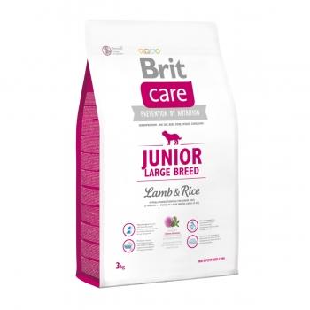 BRIT Care Junior Large Breed, L-XL, Miel cu Orez, hrană uscată câini junior, 3kg
