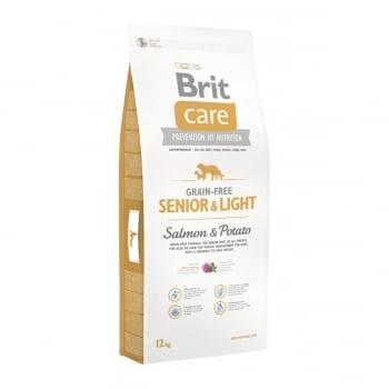 BRIT Care Senior & Light S-XL, Somon cu Cartofi, hrană uscată fără cereale câini senior, 12kg