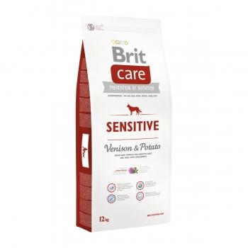 BRIT Care Sensitive Adult S-XL, Vânat cu Cartofi, hrană uscată fără cereale câini, sensibilități digestive, 12kg