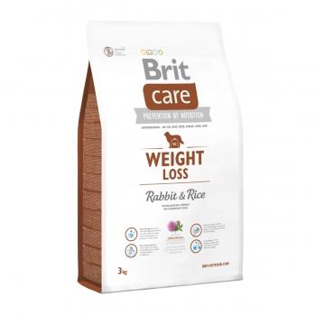 BRIT Care Weight Loss, Iepure cu Orez, hrană uscată câini, managemetul greutății, 3kg