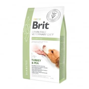 BRIT GF Veterinary Diet Diabetes, Curcan cu Mazăre, dietă veterinară câini, hrană uscată fără cereale, afecțiuni metabolice (diabet), 2kg