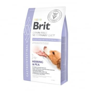 BRIT GF Veterinary Diet Gastrointestinal, Hering cu Mazăre, dietă veterinară câini, hrană uscată fără cereale, afecțiuni digestive, 2kg