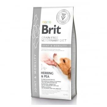 BRIT GF Veterinary Diet Joint & Mobility, Hering cu Mazăre, dietă veterinară câini, hrană uscată fără cereale, afecțiuni articulare, 12kg