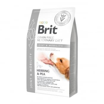 BRIT GF Veterinary Diet Joint & Mobility, Hering cu Mazăre, dietă veterinară câini, hrană uscată fără cereale, afecțiuni articulare, 2kg