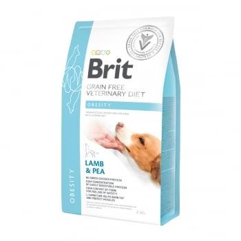 BRIT GF Veterinary Diet Obesity, Miel cu Mazăre, dietă veterinară câini, hrană uscată fără cereale, afecțiuni metabolice (obezitate), 2kg
