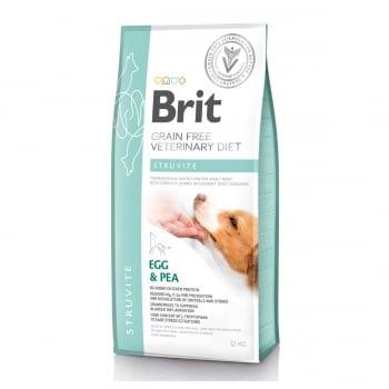 BRIT GF Veterinary Diet Struvite, Ou și Mazăre, dietă veterinară câini, hrană uscată fără cereale, afecțiuni urinare (struviți), 12kg