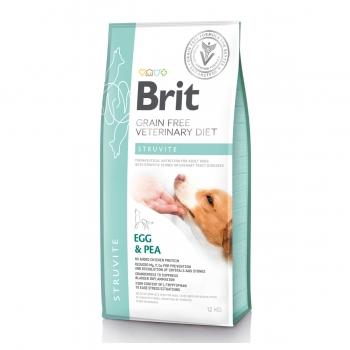 BRIT GF Veterinary Diet Struvite, Ou și Mazăre, dietă veterinară câini, pachet economic hrană uscată fără cereale, afecțiuni urinare (struviți), 12kg x 2