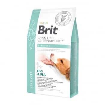 BRIT GF Veterinary Diet Struvite, Ou și Mazăre, dietă veterinară câini, hrană uscată fără cereale, afecțiuni urinare (struviți), 2kg