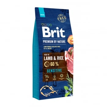BRIT Premium By Nature Sensitive, Miel, hrană uscată câini, sensibilitați digestive, 15kg