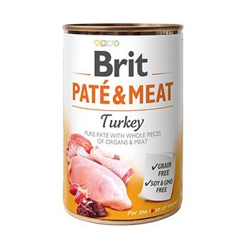 Brit Pate & Meat Cu Curcan, 400 g