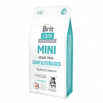 Brit Care Mini Grain Free Light and Sterilised 2 kg imagine