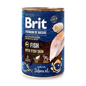 Pachet Brit Premium By Nature Fish With Fish Skin 6x400 G imagine