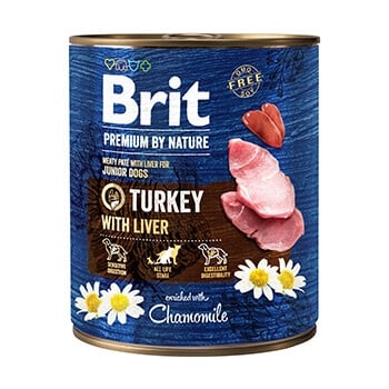 Pachet Brit Premium By Nature Turkey With Liver 6x800 g imagine