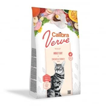 CALIBRA Verve GF Adult, Pui și Curcan, hrană uscată fară cereale pisici, 750g