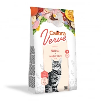 CALIBRA Verve GF Adult, Pui și Curcan, hrană uscată fară cereale pisici, 3.5kg
