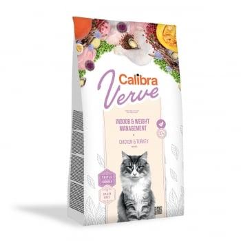 CALIBRA Verve GF Indoor & Weight, Pui, hrană uscată fară cereale pisici, managementul greutății, 750g