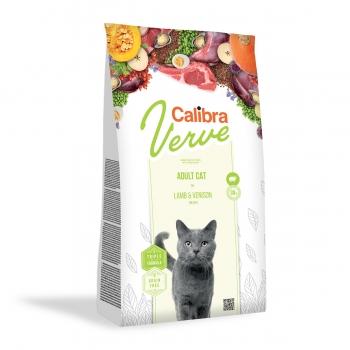 CALIBRA Verve GF Mature 8+, Miel și Vânat, hrană uscată fară cereale pisici senior, 750g
