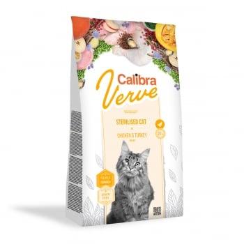 CALIBRA Verve GF Sterilised, Pui și Curcan, hrană uscată fară cereale pisici sterilizate, 3.5kg