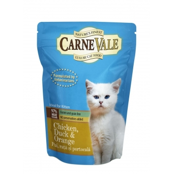 Carnevale Kitten Pui Rata si Portocale 85 g imagine
