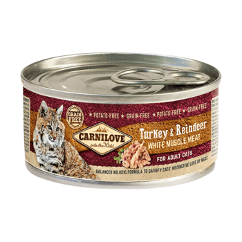 Carnilove Adult Cat Turkey and Reindeer 100 g conserva