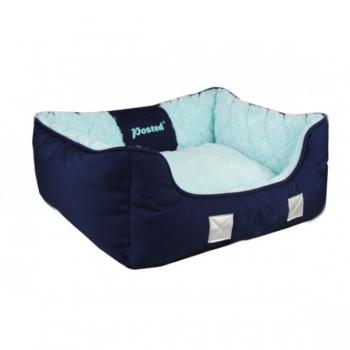 Culcus pentru Caini Tunnel Pet S Bleu, 53x42x18 cm imagine