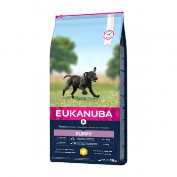 EUKANUBA Basic Puppy L-XL, Pui, hrană uscată câini junior, 15kg