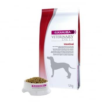 EUKANUBA Veterinary Diets Intestinal, Pui și Curcan, dietă veterinară câini, pachet economic hrană uscată, afecțiuni digestive, 12kg x 2