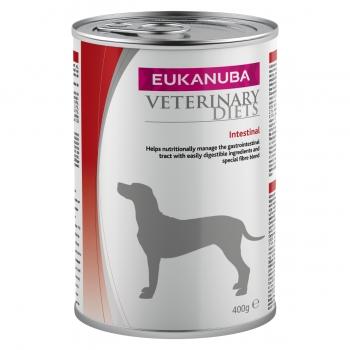 EUKANUBA Veterinary Diets Intestinal, Pui și Pește, dietă veterinară câini, conservă hrană umedă, afecțiuni digestive, 400g