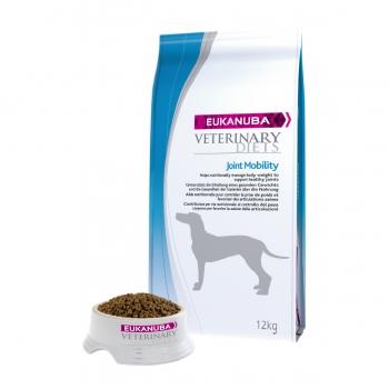 EUKANUBA Veterinary Diets Joint Mobility, Pui și Curcan, dietă veterinară câini, hrană uscată, afecțiuni articulare, 12kg
