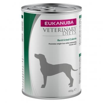 EUKANUBA Veterinary Diets Restricted Calories, Pui și Pește, dietă veterinară câini, conservă hrană umedă, afecțiuni metabolice (obezitate), 400g