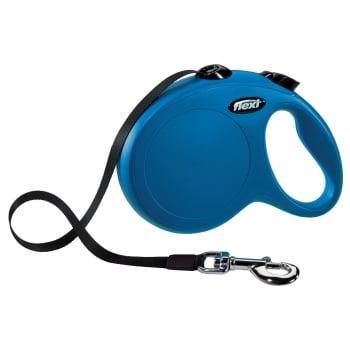 FLEXI Classic L Cord, lesă retractabilă câini, 50kg, bandă, 5m, albastru