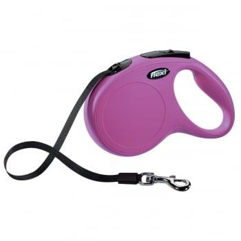 FLEXI Classic M Cord, lesă retractabilă câini, 25kg, bandă, 5m, roz